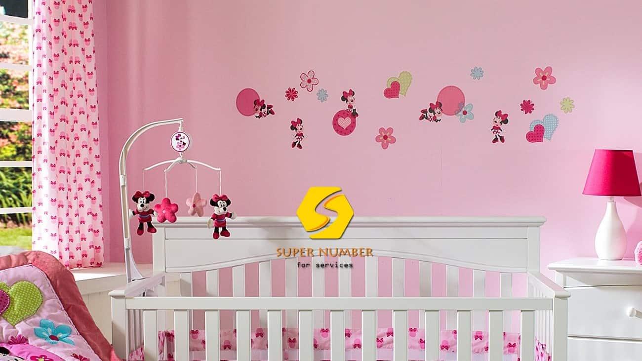 تركيب ورق حائط لغرف نوم البنات